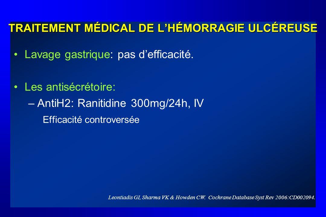 TRAITEMENT MÉDICAL DE L'HÉMORRAGIE ULCÉREUSE