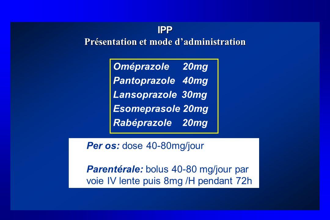 IPP Présentation et mode d'administration