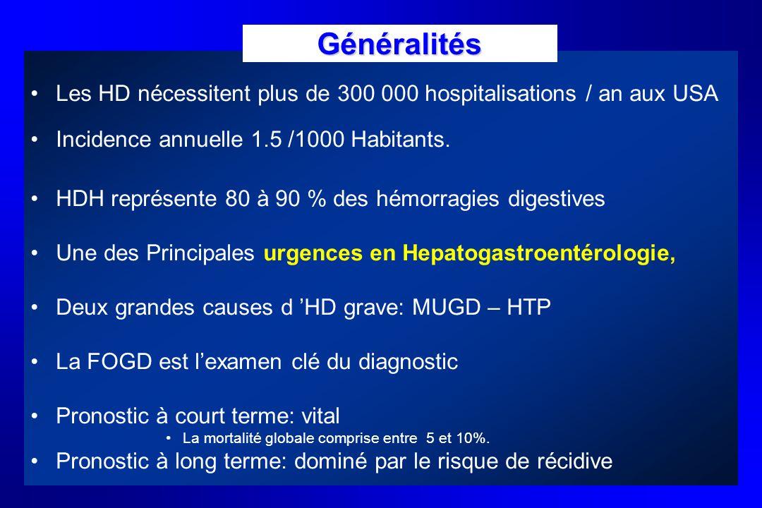 GénéralitésLes HD nécessitent plus de 300 000 hospitalisations / an aux USA. Incidence annuelle 1.5 /1000 Habitants.