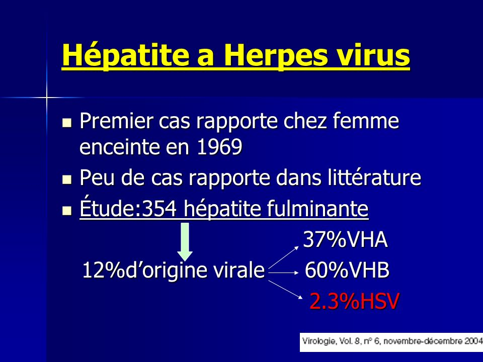 Hépatite a Herpes virus