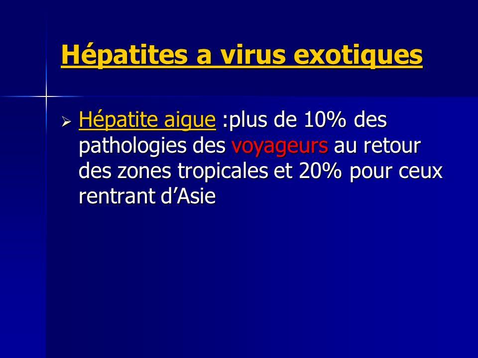 Hépatites a virus exotiques
