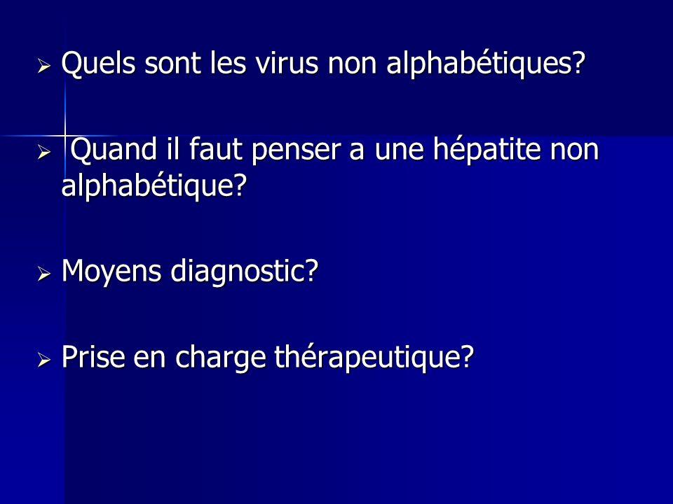 Quels sont les virus non alphabétiques