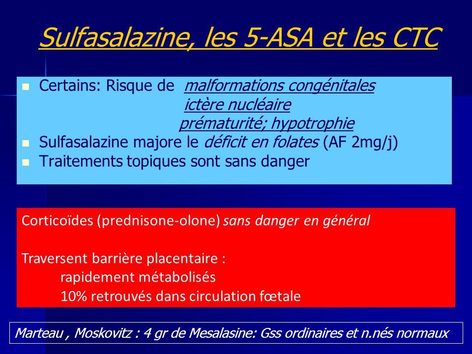 Sulfasalazine, les 5-ASA et les CTC