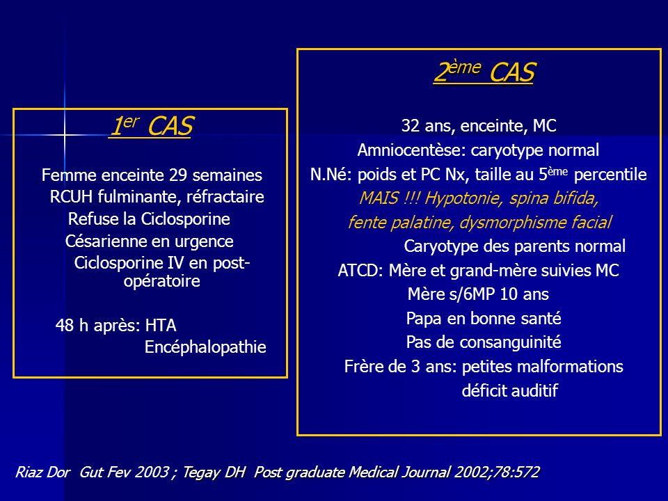 2ème CAS 1er CAS 32 ans, enceinte, MC Amniocentèse: caryotype normal
