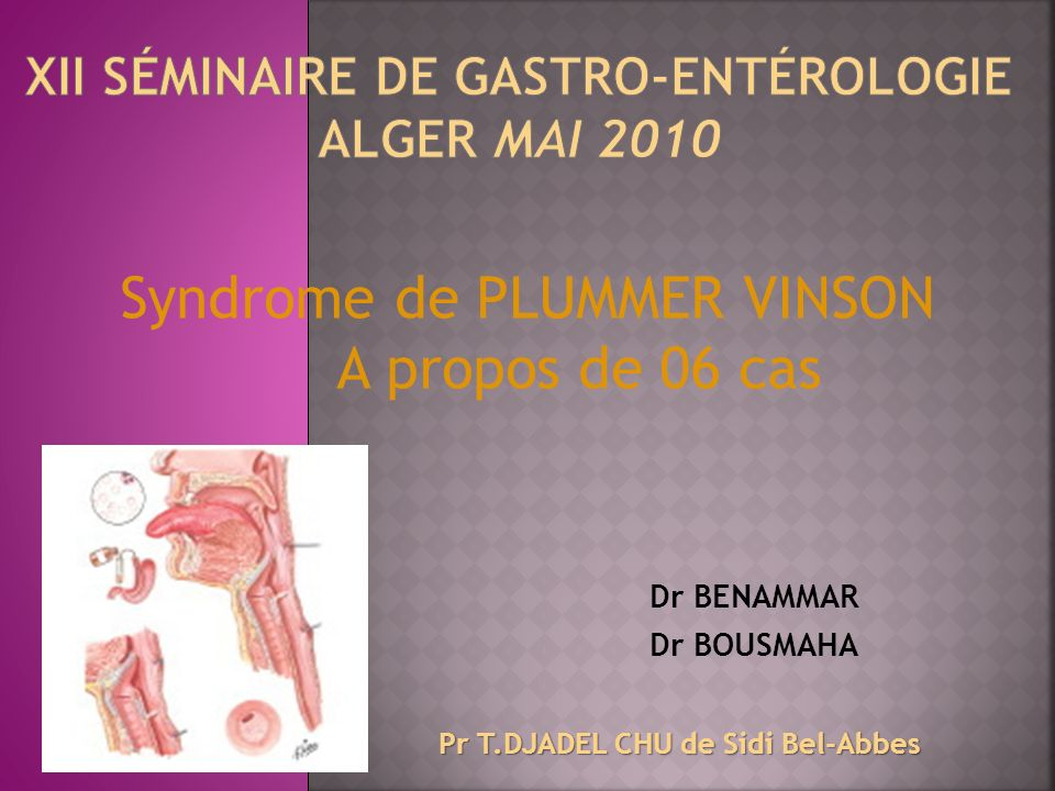 XII séminaire de gastro-entérologie Alger mai 2010