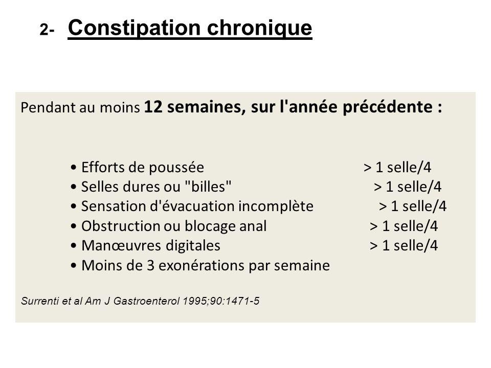 2- Constipation chronique