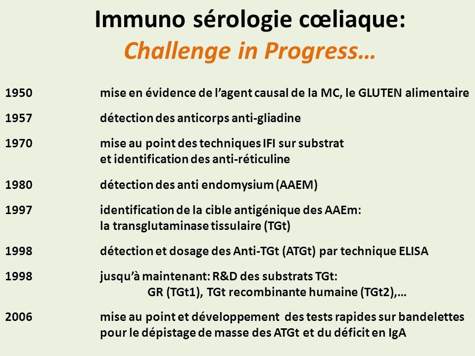 Immuno sérologie cœliaque: Challenge in Progress…