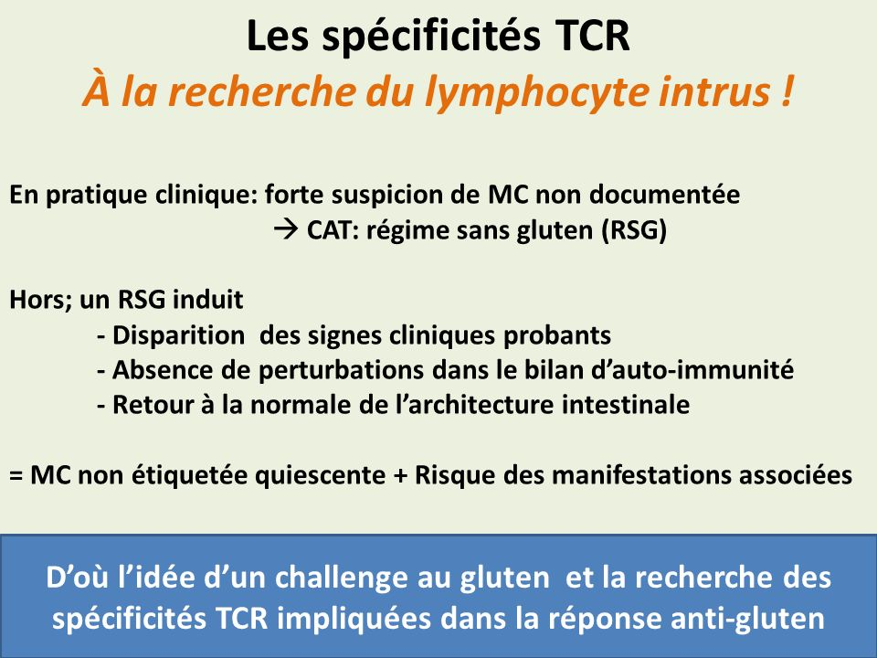 À la recherche du lymphocyte intrus !