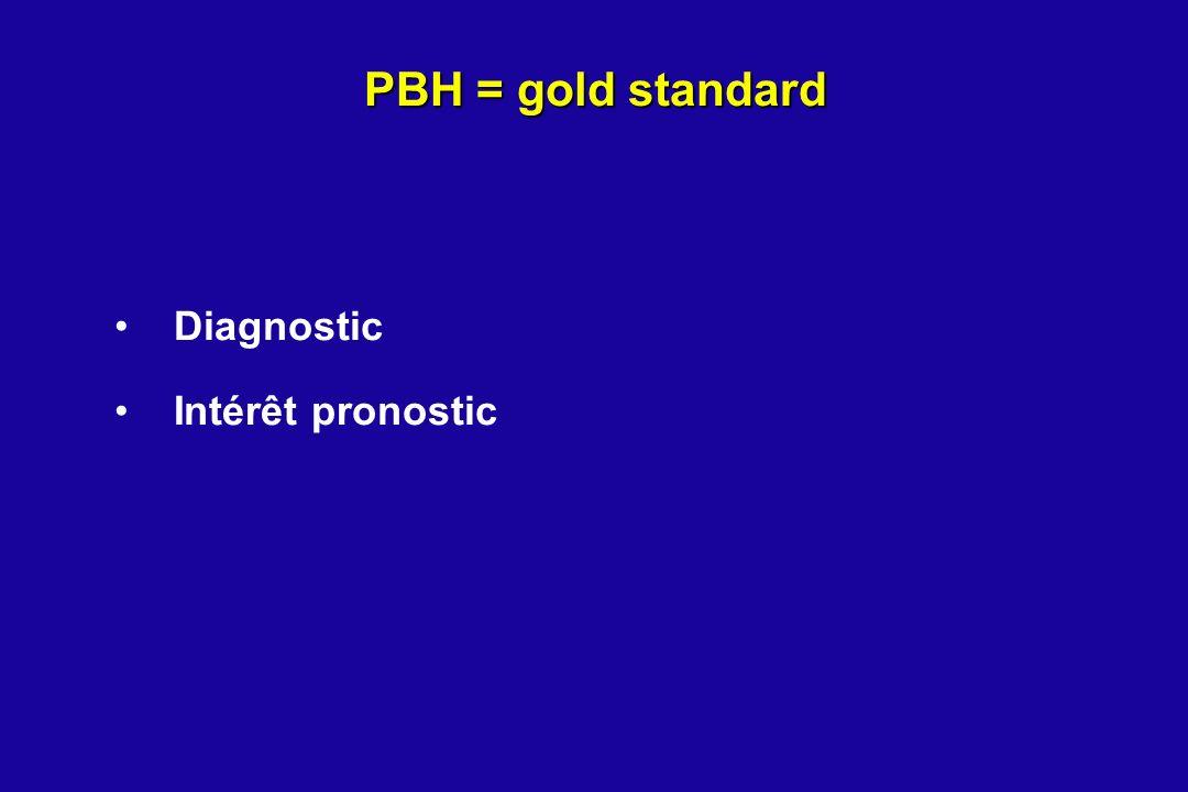 PBH = gold standard Diagnostic Intérêt pronostic