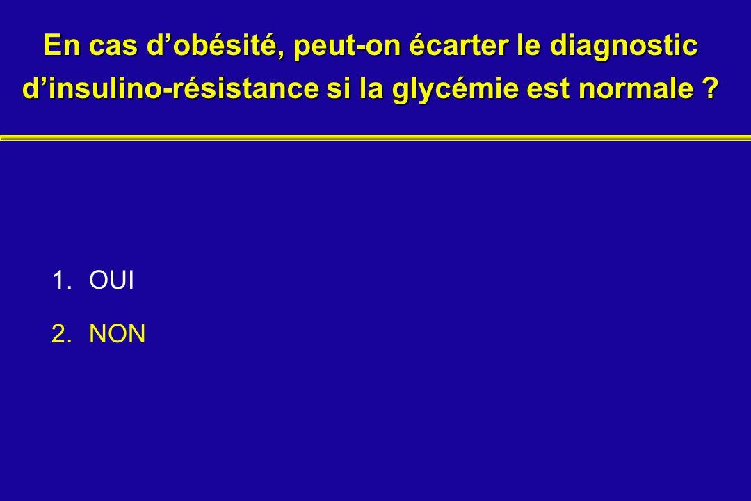 En cas d'obésité, peut-on écarter le diagnostic d'insulino-résistance si la glycémie est normale