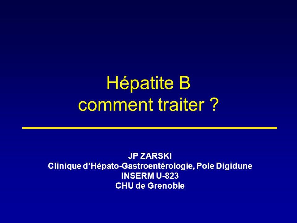 Hépatite B comment traiter