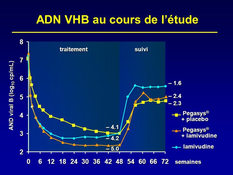 ADN VHB au cours de l'étude