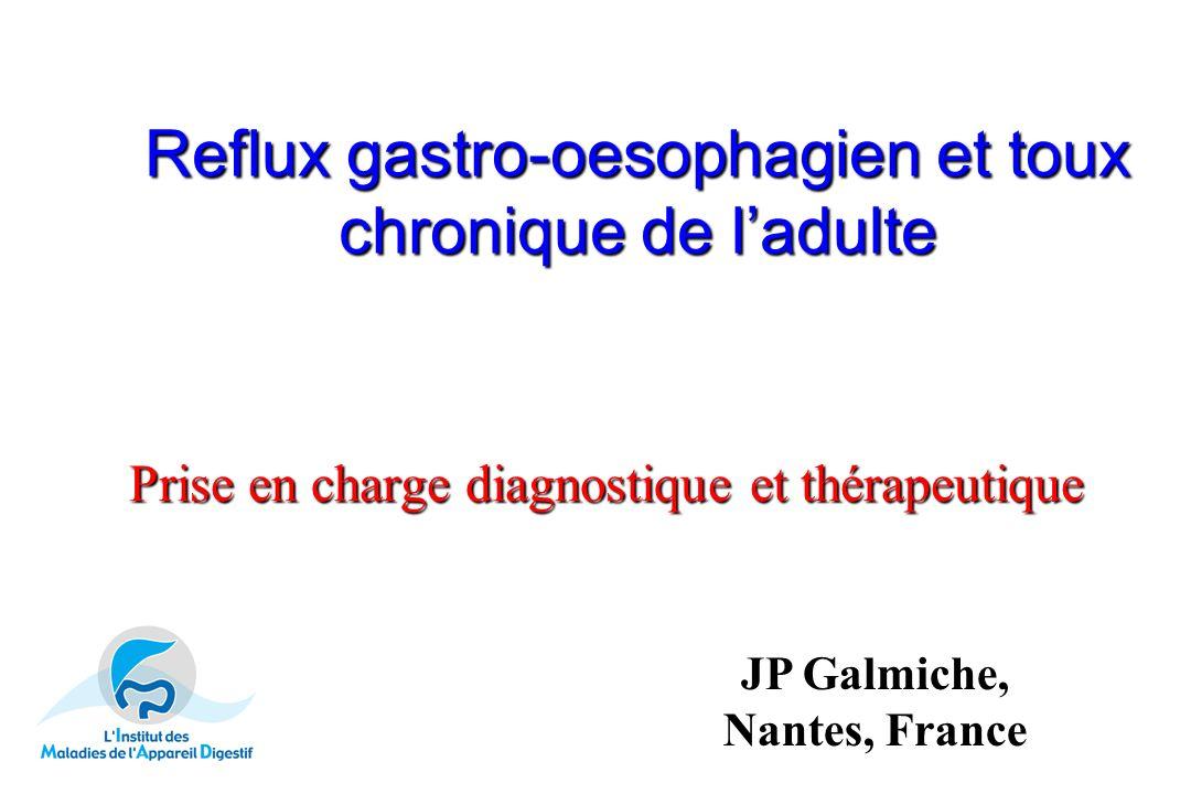 Reflux gastro-oesophagien et toux chronique de l'adulte