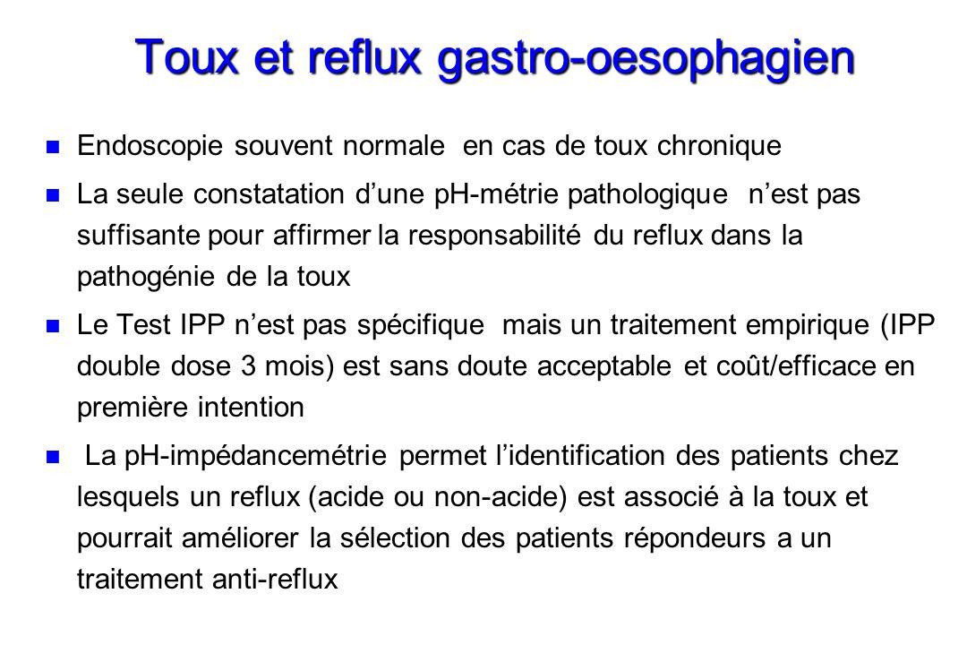 Toux et reflux gastro-oesophagien