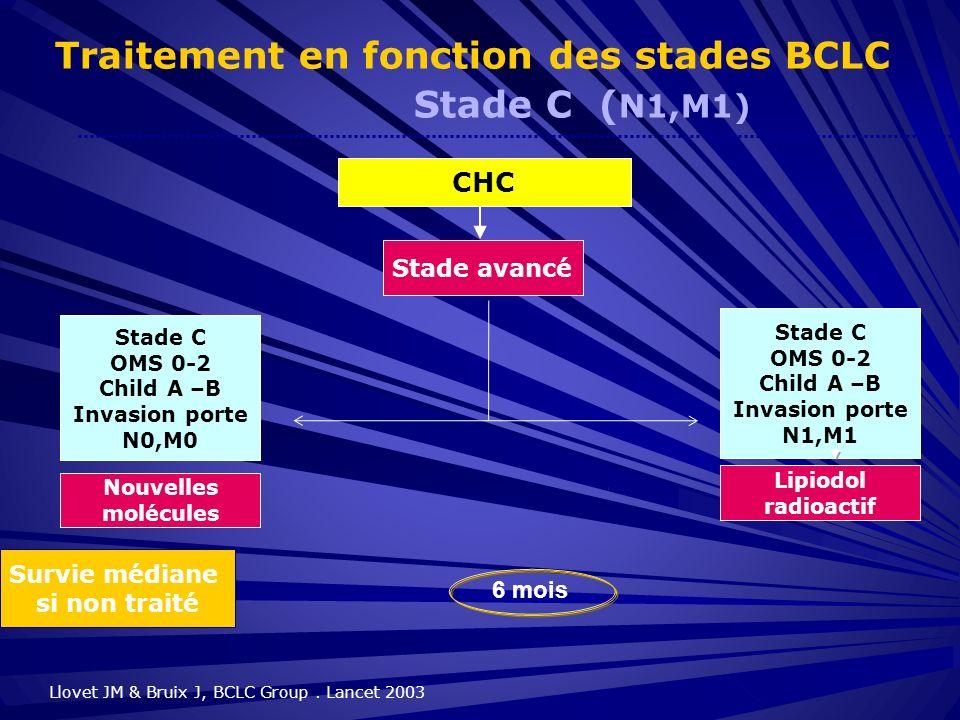 Traitement en fonction des stades BCLC Stade C (N1,M1)