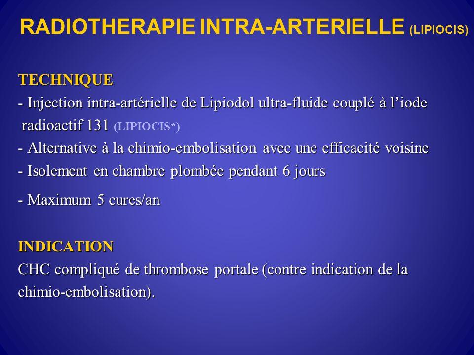 RADIOTHERAPIE INTRA-ARTERIELLE (LIPIOCIS)