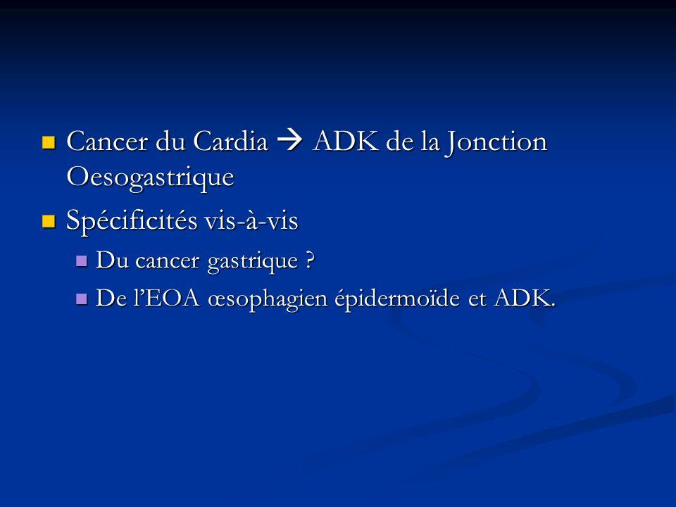 Cancer du Cardia  ADK de la Jonction Oesogastrique