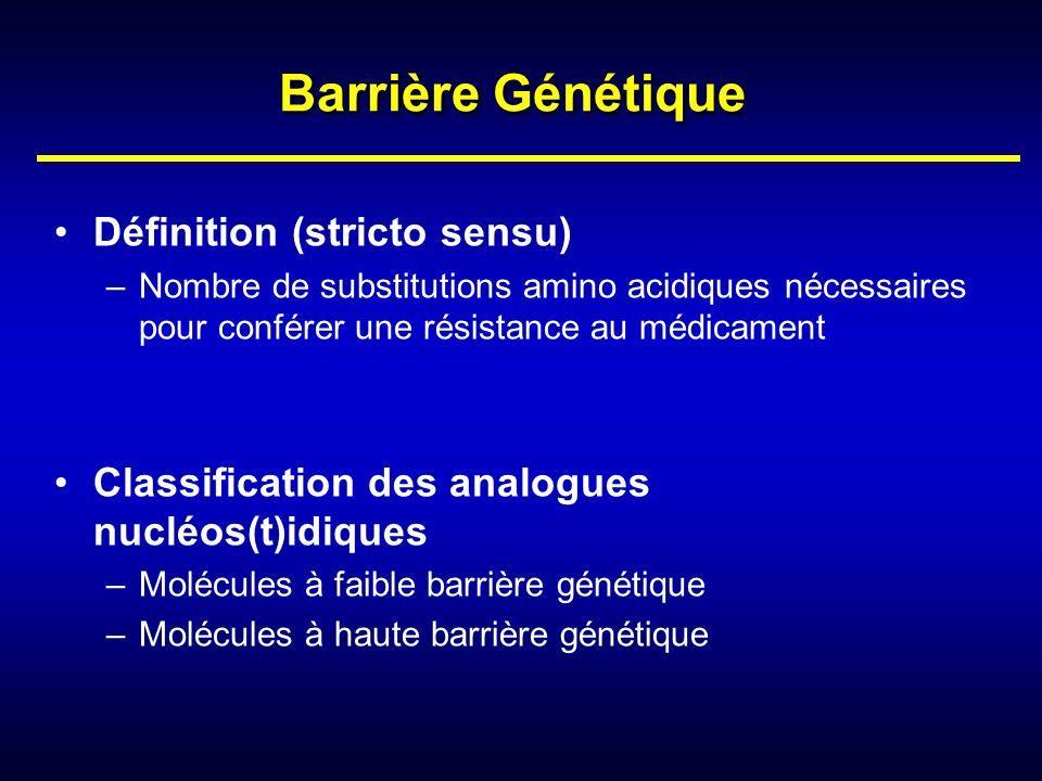 Barrière Génétique Définition (stricto sensu)