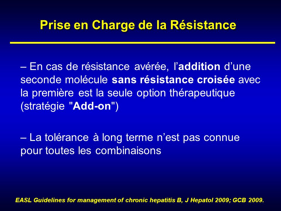Prise en Charge de la Résistance