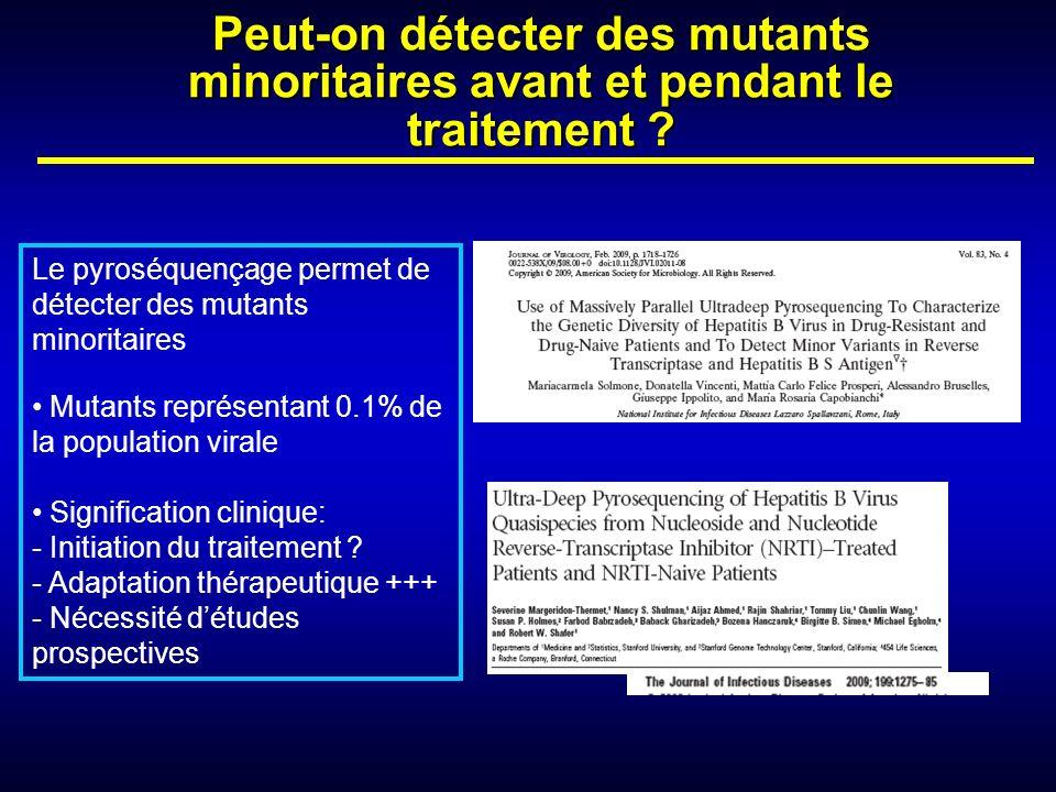 Peut-on détecter des mutants minoritaires avant et pendant le traitement