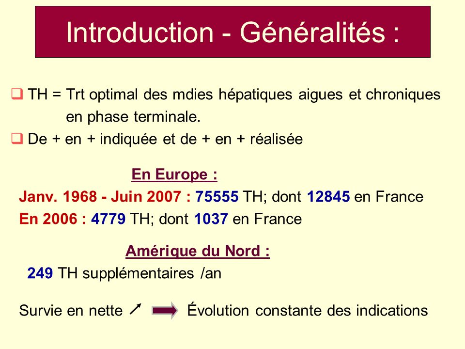 Introduction - Généralités :
