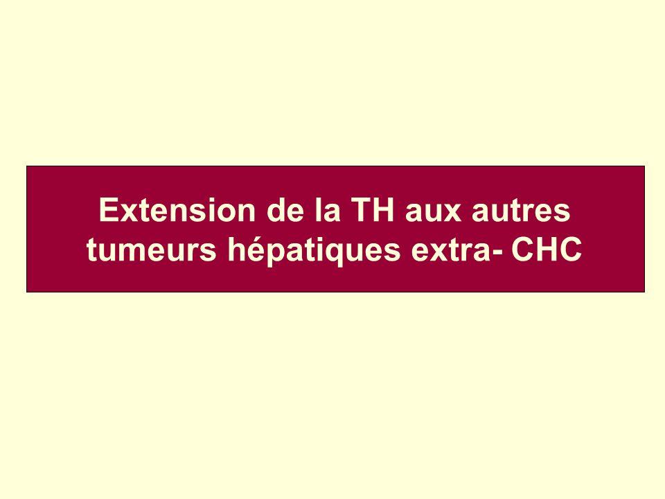 Extension de la TH aux autres tumeurs hépatiques extra- CHC