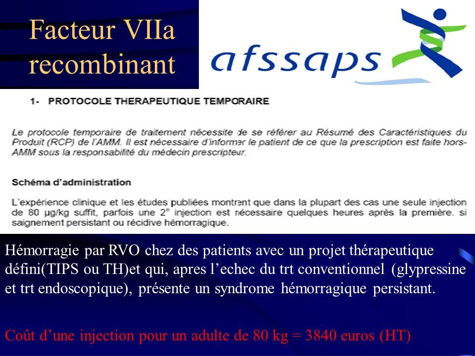 Facteur VIIa recombinant