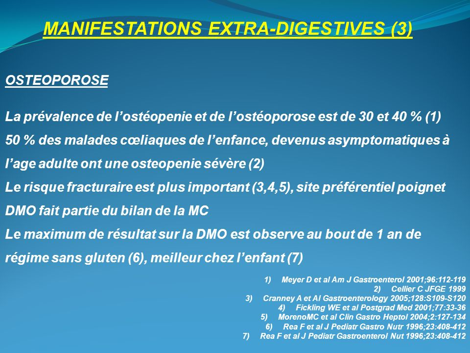 MANIFESTATIONS EXTRA-DIGESTIVES (3)