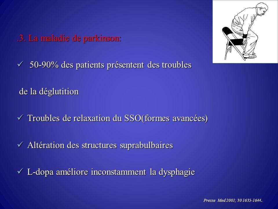 .3. La maladie de parkinson: