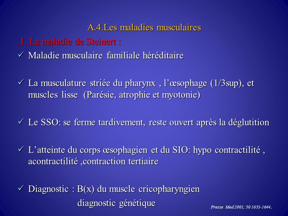 A.4.Les maladies musculaires