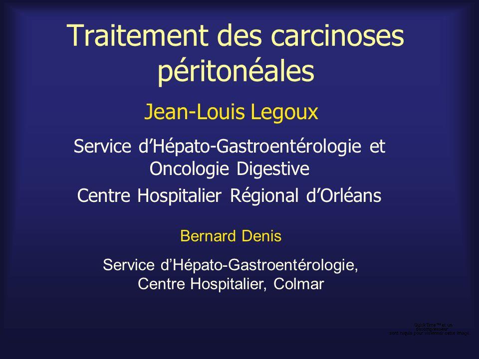 Traitement des carcinoses péritonéales