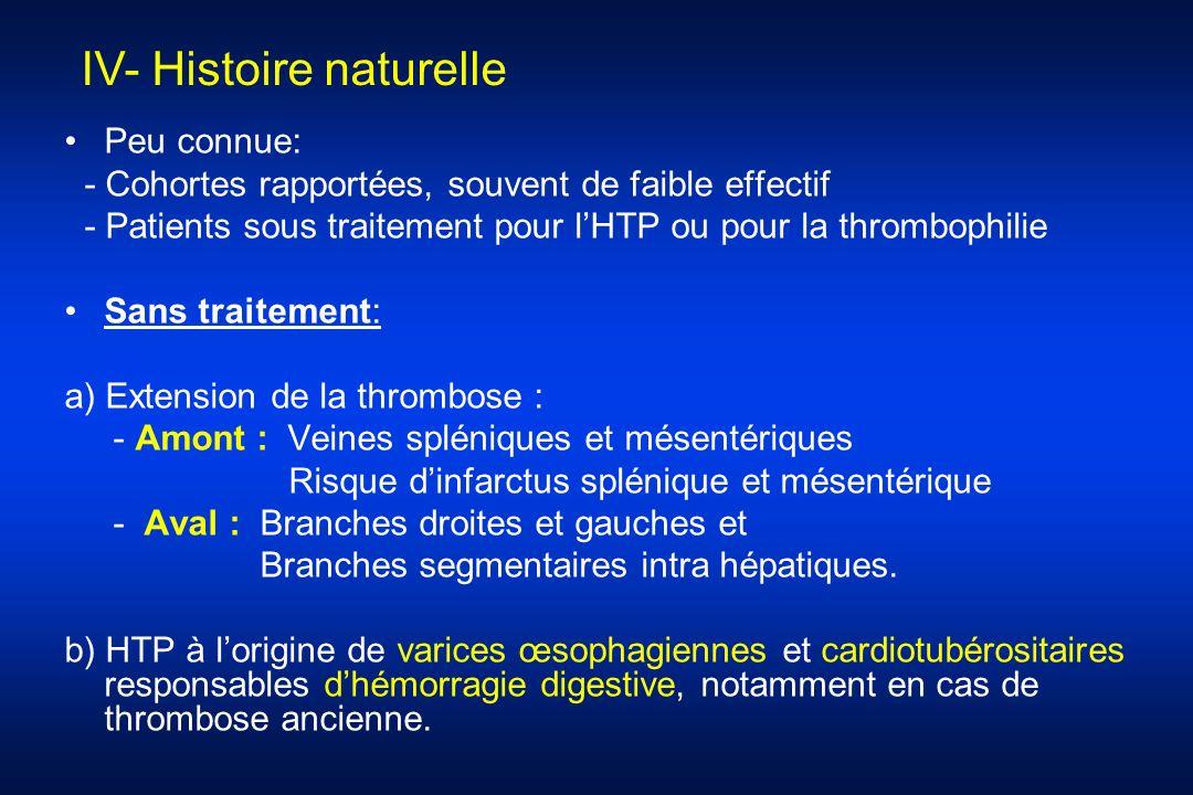 IV- Histoire naturelle