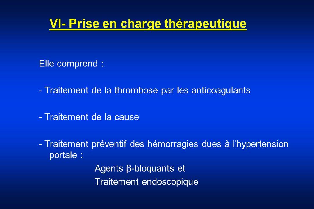 VI- Prise en charge thérapeutique