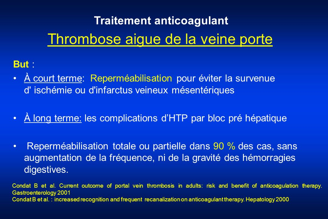 Thrombose aigue de la veine porte