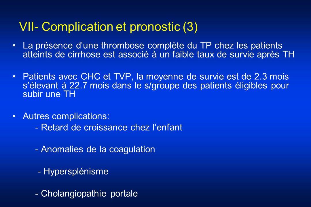 VII- Complication et pronostic (3)