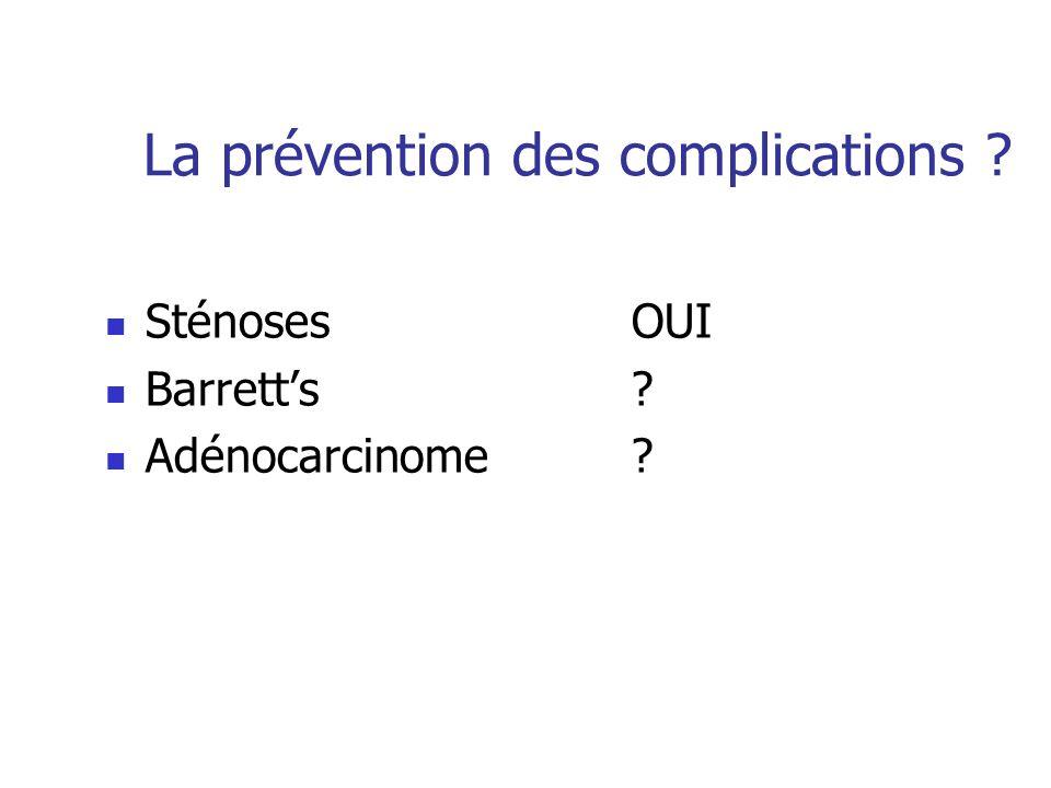 La prévention des complications
