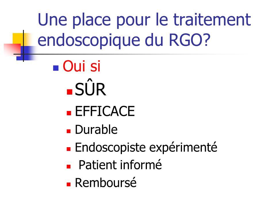 Une place pour le traitement endoscopique du RGO