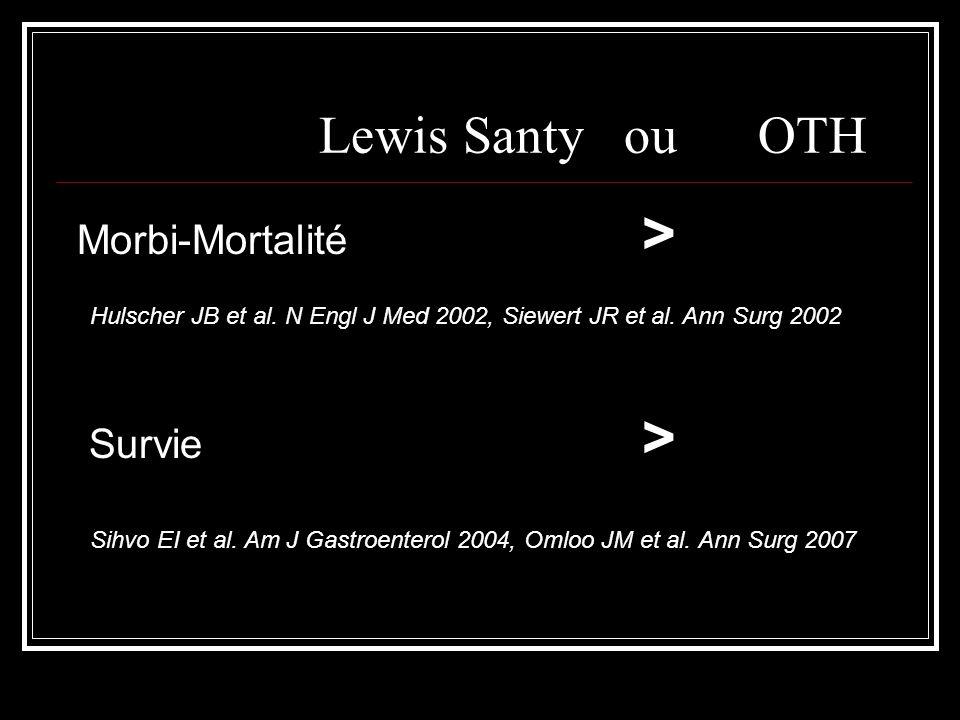 Lewis Santy ou OTH Morbi-Mortalité > Survie >