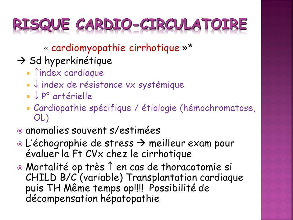Risque cardio-circulatoire