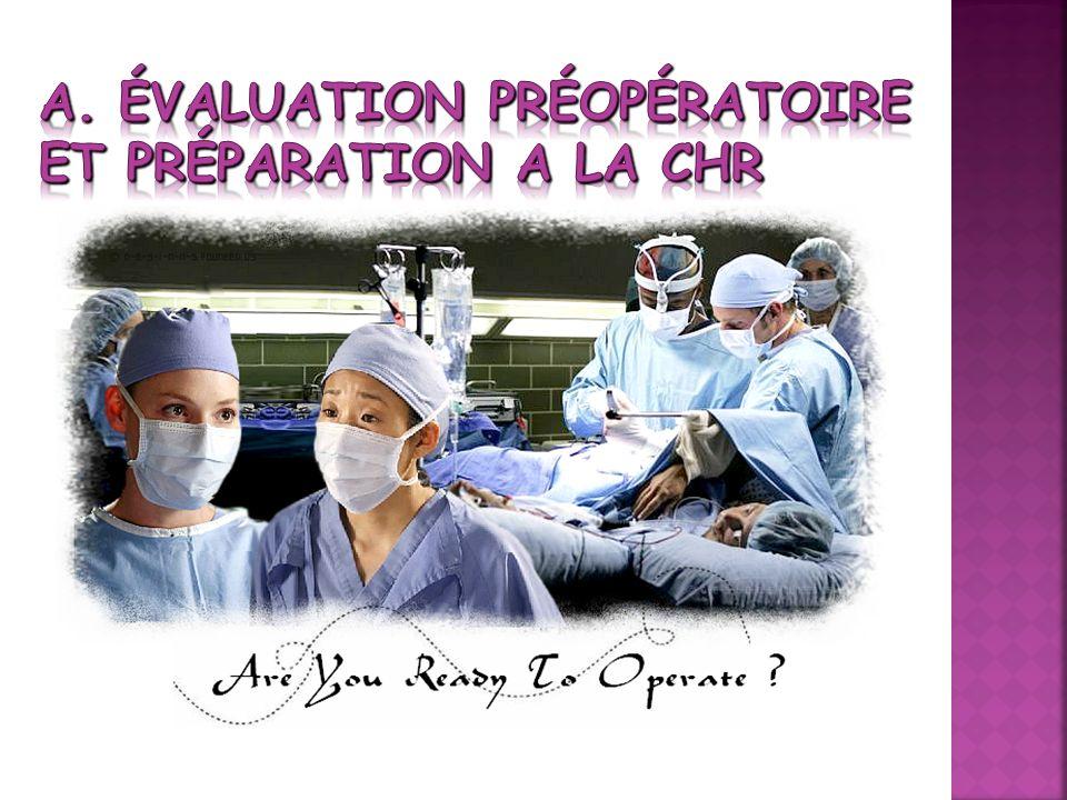 A. Évaluation Préopératoire et préparation a la CHR