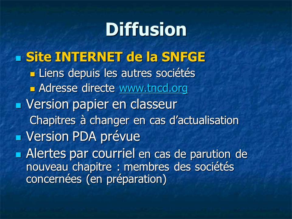 Diffusion Site INTERNET de la SNFGE Version papier en classeur