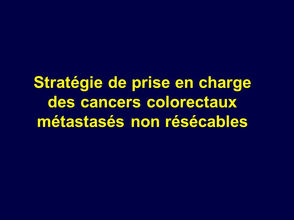 Stratégie de prise en charge des cancers colorectaux métastasés non résécables