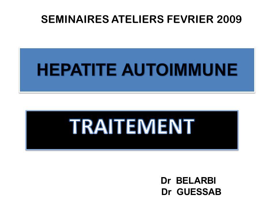 TRAITEMENT HEPATITE AUTOIMMUNE Dr GUESSAB