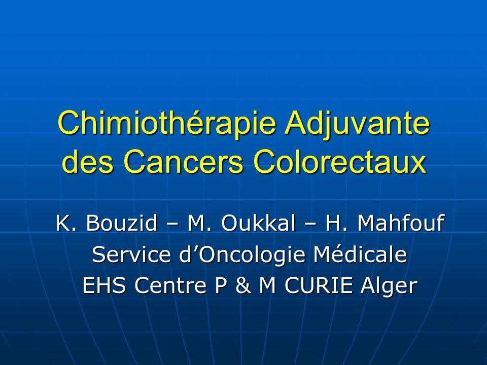 Chimiothérapie Adjuvante des Cancers Colorectaux