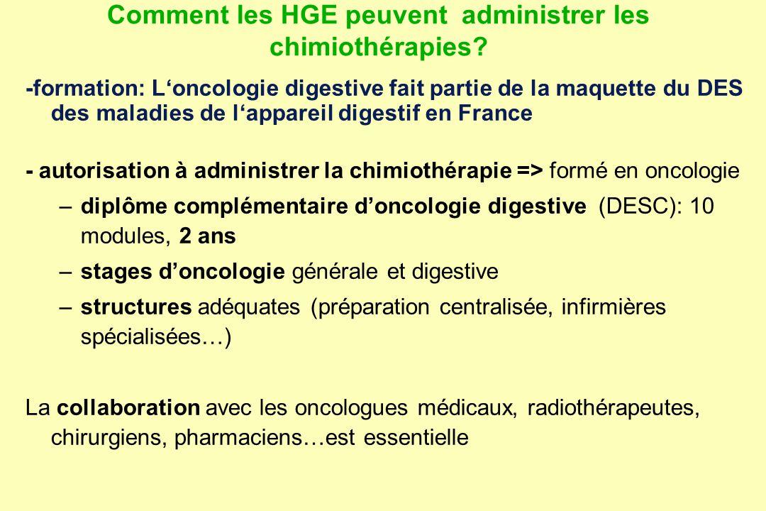 Comment les HGE peuvent administrer les chimiothérapies