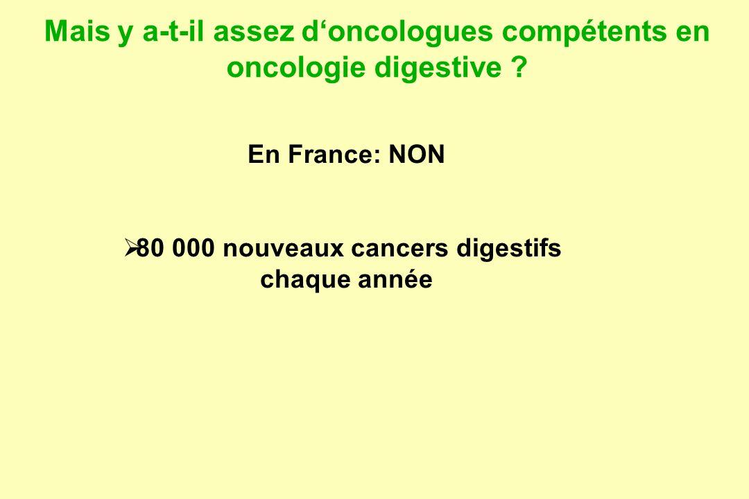 Mais y a-t-il assez d'oncologues compétents en oncologie digestive
