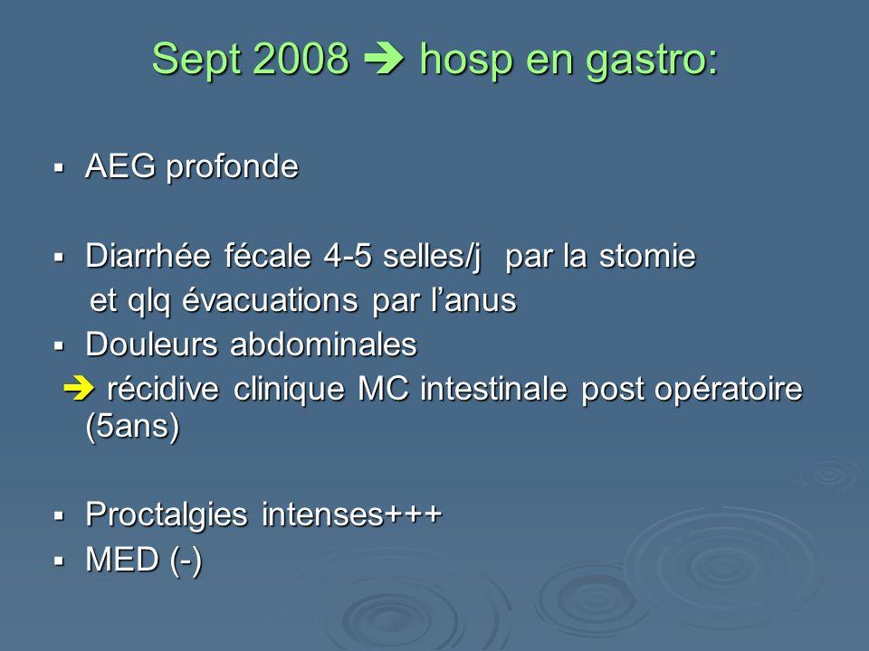 Sept 2008  hosp en gastro: AEG profonde