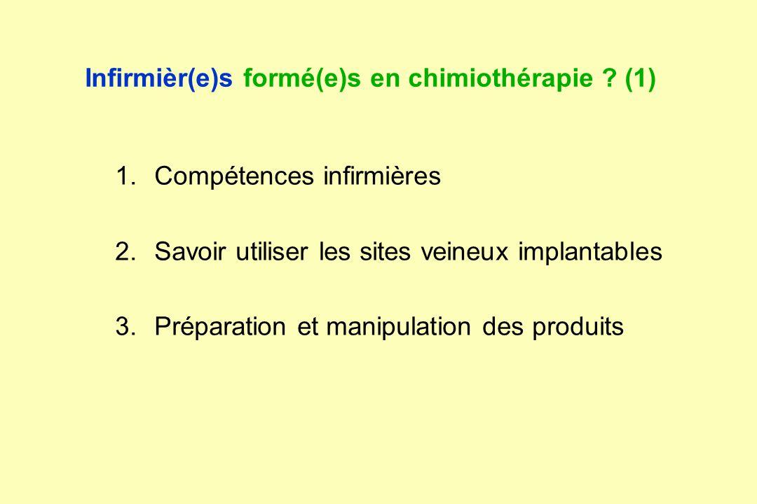 Infirmièr(e)s formé(e)s en chimiothérapie (1)