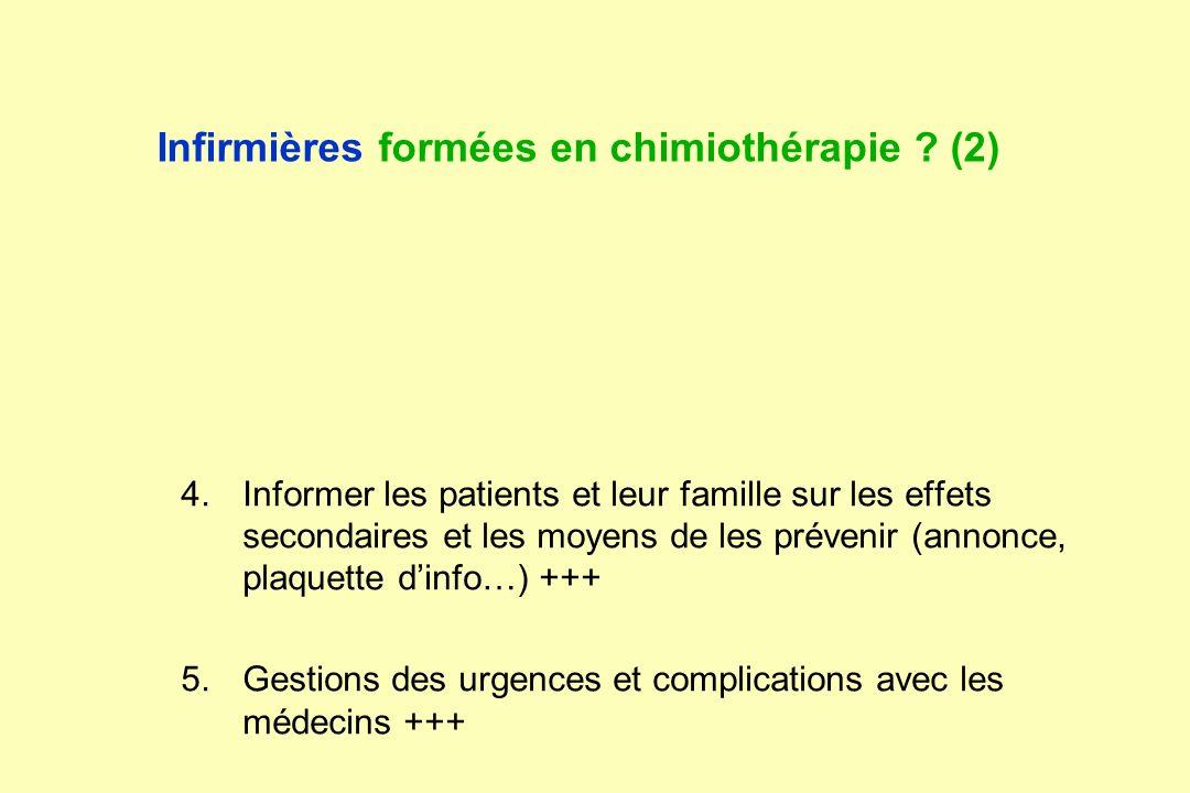Infirmières formées en chimiothérapie (2)