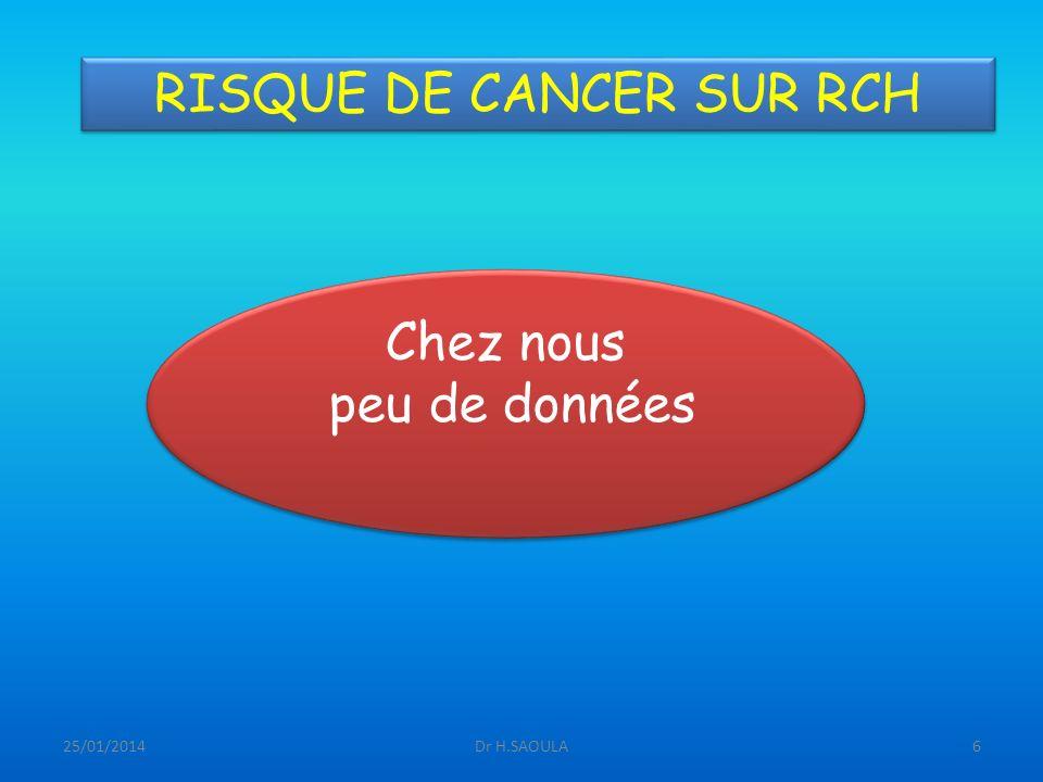 RISQUE DE CANCER SUR RCH